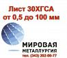 Сталь 30хгса, лист 30хгса, полоса ст.30хгса Екатеринбург